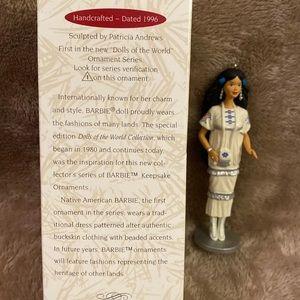 Hallmark 1996 Native American Barbie ornament